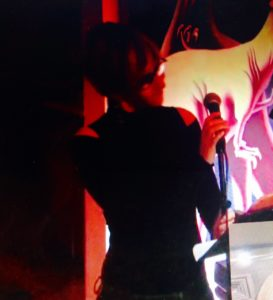 Sophie sings the music of Mark Kostabi & Gene Pritsker (and Dunér) at Kostabi World Uptown (Manhattan)