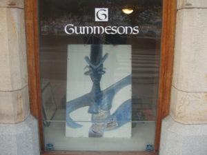 Blue Grasshopper at Galleri Gummesons